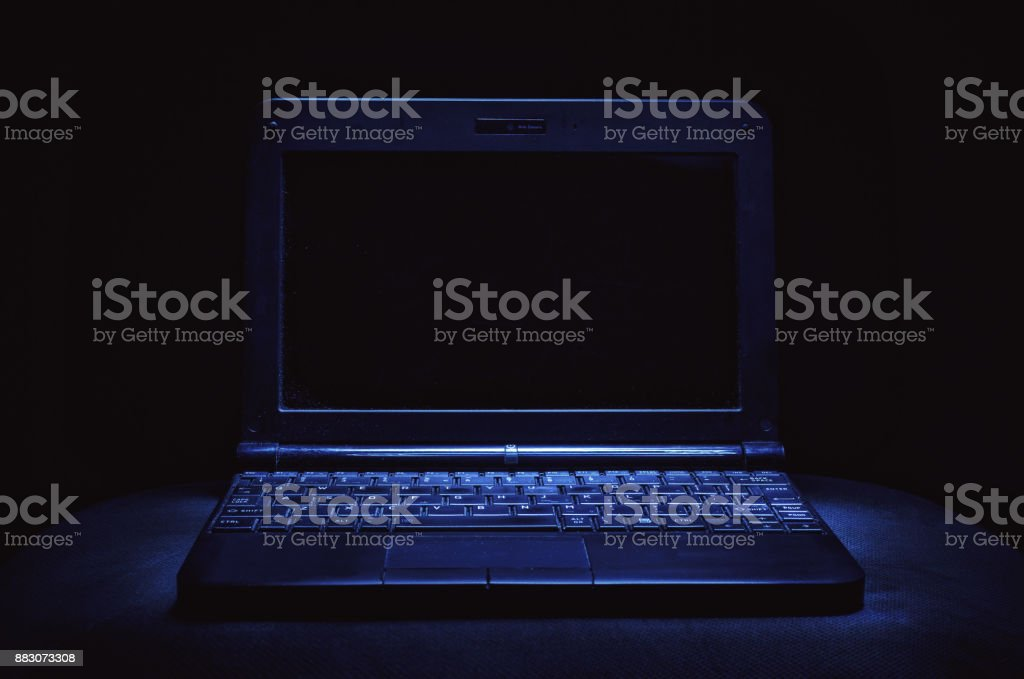 Old Dusty Laptop stock photo