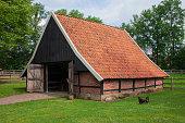 Old Dutch barn in Ootmarsum, Twente, Overijssel, The Netherlands