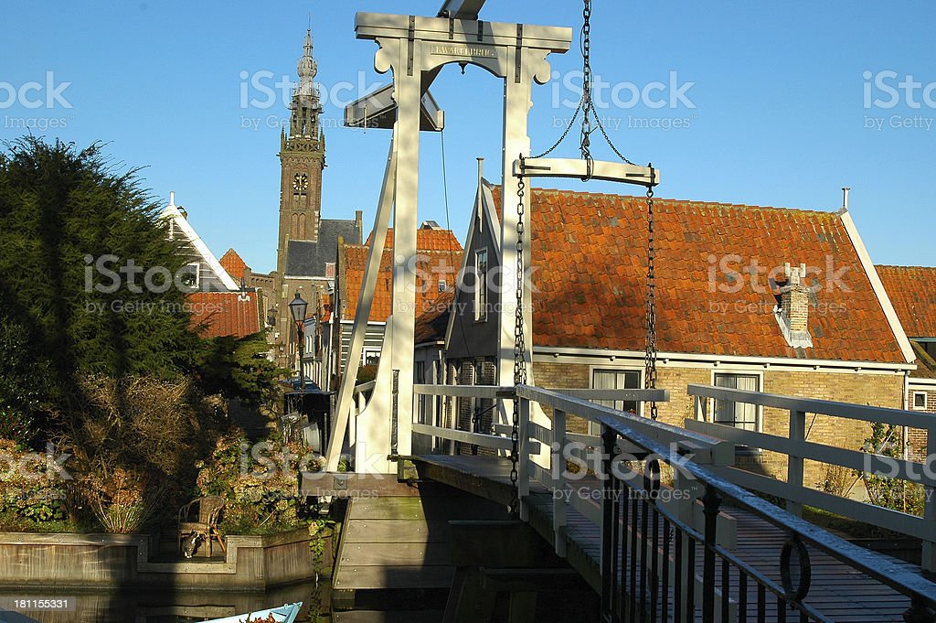 Old Dutch bridge stock photo