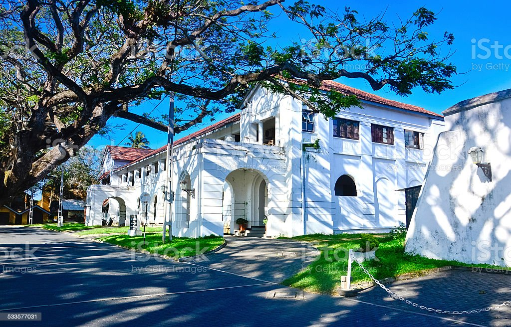 Old Dutch Buildings At Galle Fort In Galle, Sri Lanka stock photo