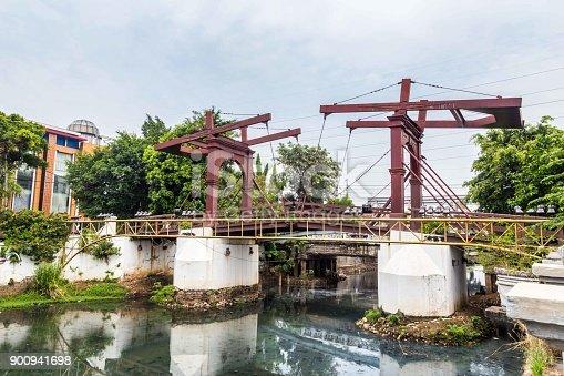 Old Dutch Colonial Bridge (Hoender Pasarbrug) in  Sunda Kelapa, Jakarta,  Indonesia