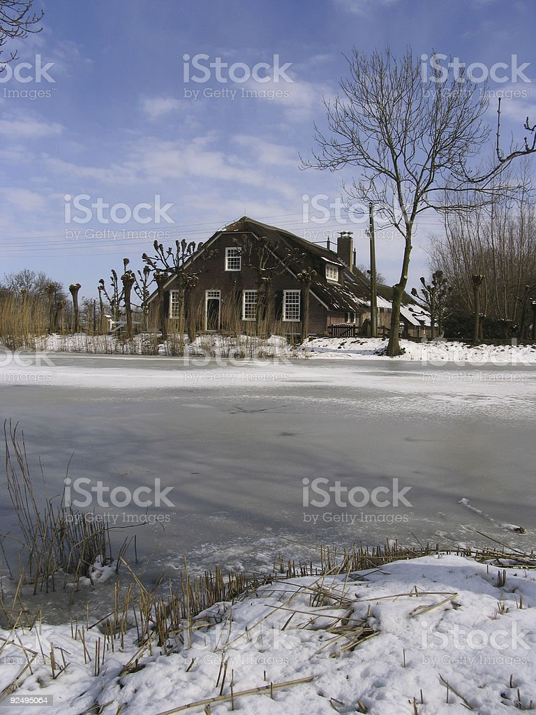 Old Dutch farm house 2 royalty-free stock photo