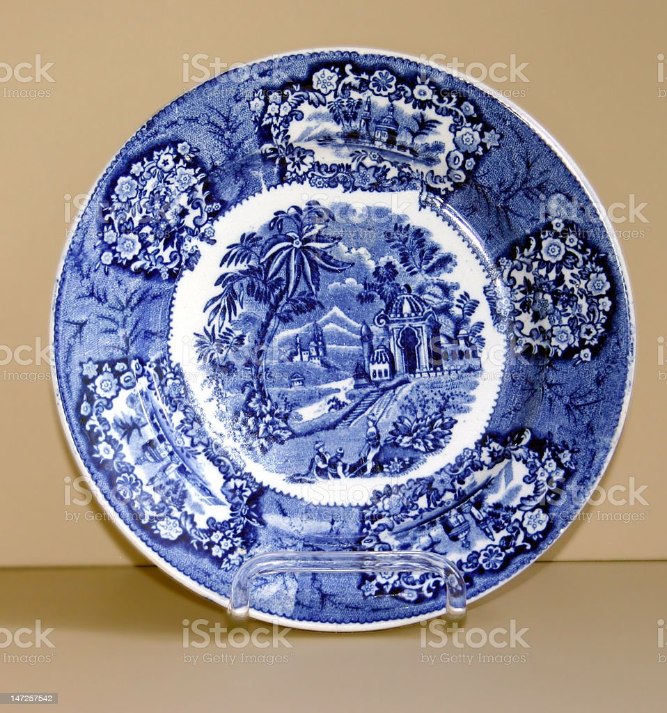 Old Dutch Plate royalty-free stock photo