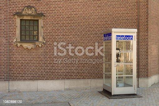 Old dutch telephone box (telefooncel 1932) . dutch version of the British red box
