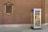 Old dutch telephone box (telefooncel 1932) . dutch version of the British red box