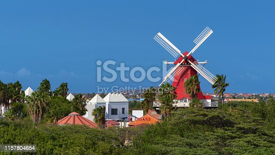 View of the Old Dutch Windmill from Bubali Bird Sanctuary Observation Tower.