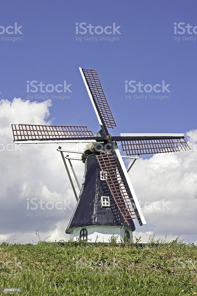 Old dutch windmill royalty-free stock photo
