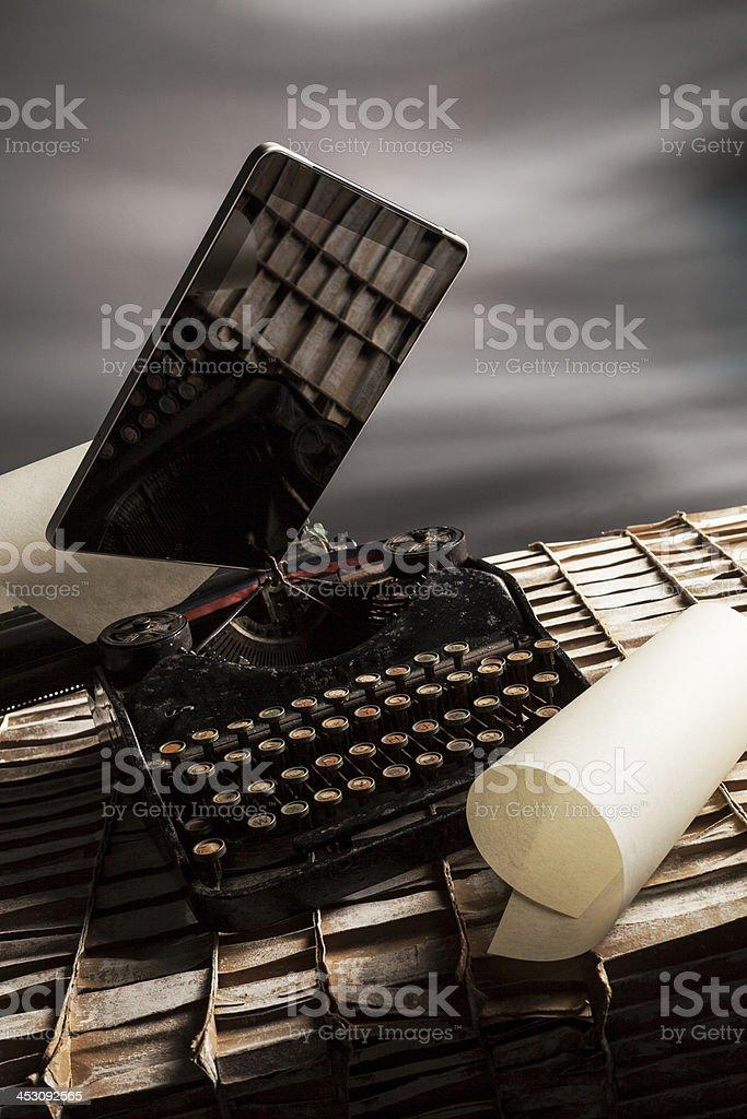 old e new typewriter royalty-free stock photo