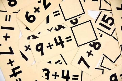 Old Educational Math Flash Cards... Horizontal
