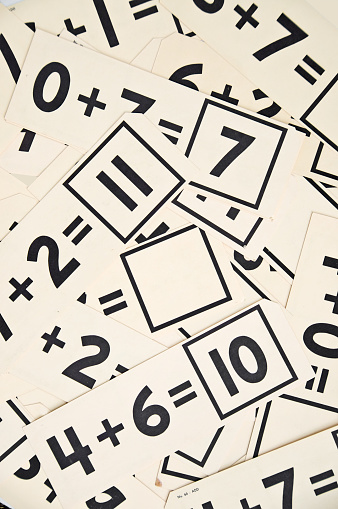 Old Educational Math Flash Cards... Vertical