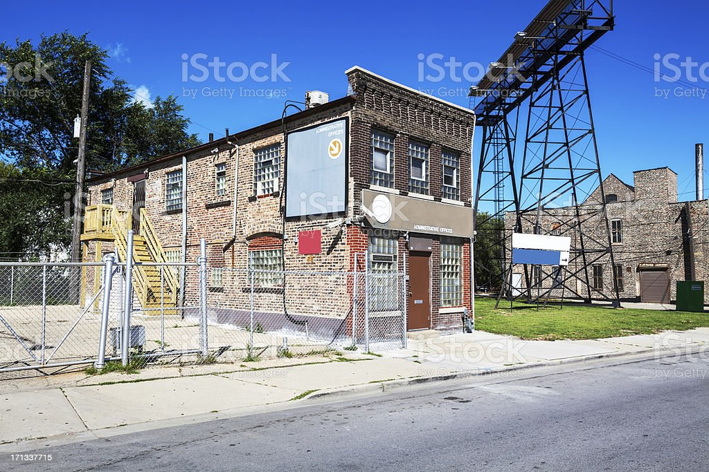 Old Edwadian Workshop in Fuller Park, Chicago royalty-free stock photo