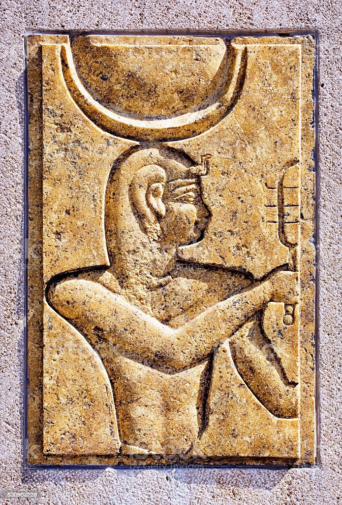 old egypt relief stock photo