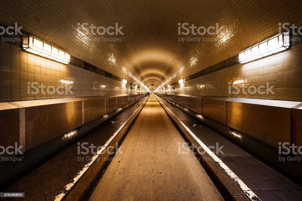 Old Elbe Tunnel Hamburg Steinwerder stock photo