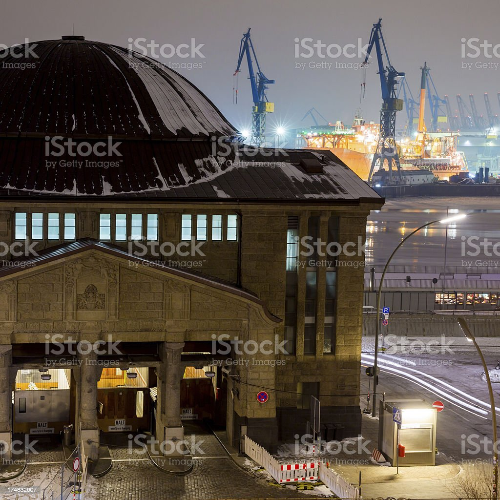 Old Elbtunnel in Hamburg royalty-free stock photo