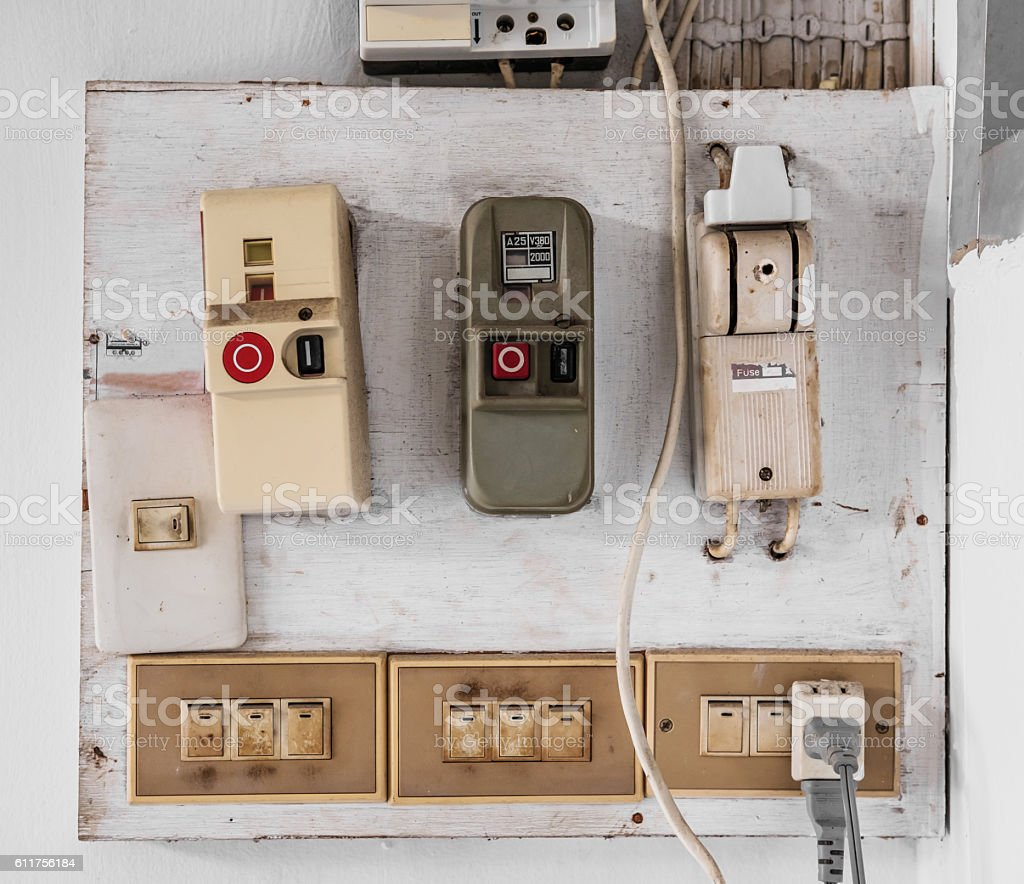 Old Fashion Fuse Box Wiring Diagram Schematics Style Royalty Free Fashioned Pictures Images And Electrical Breaker