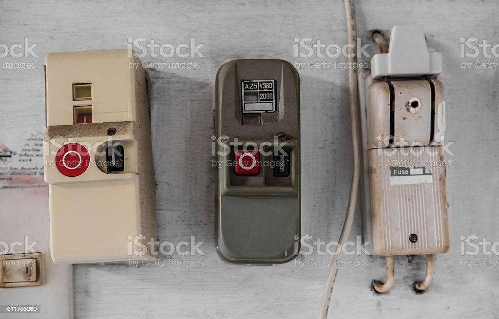 Old Electric Fuse Panel Of Domestic House Stock Photo & More ...
