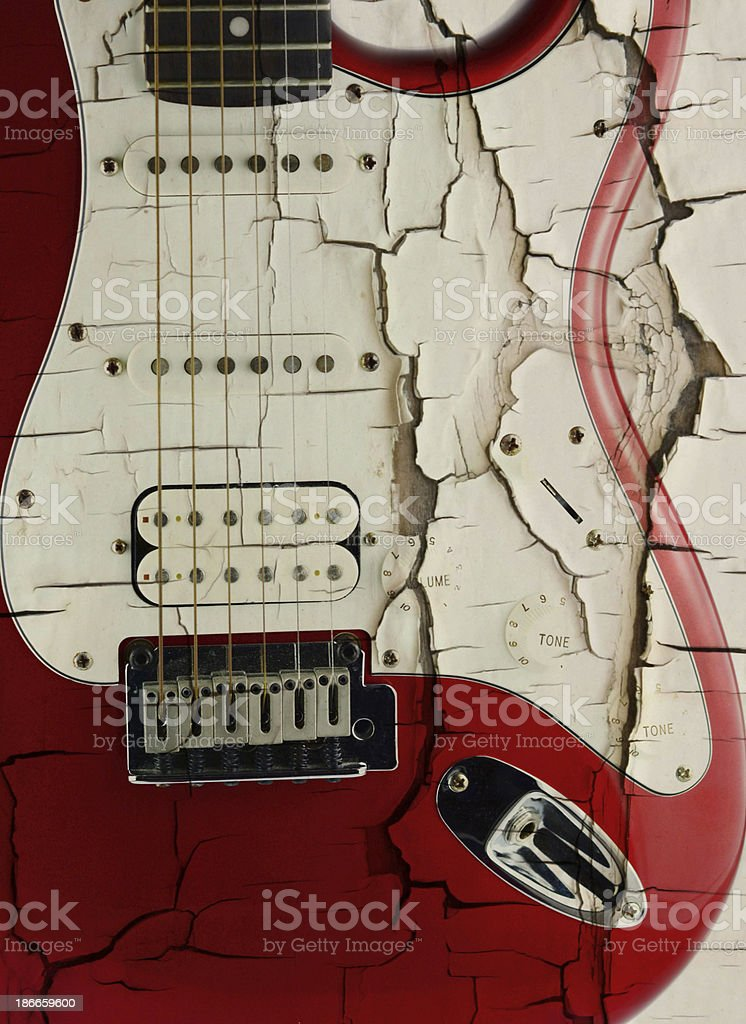 old electric guitar on white royalty-free stock photo