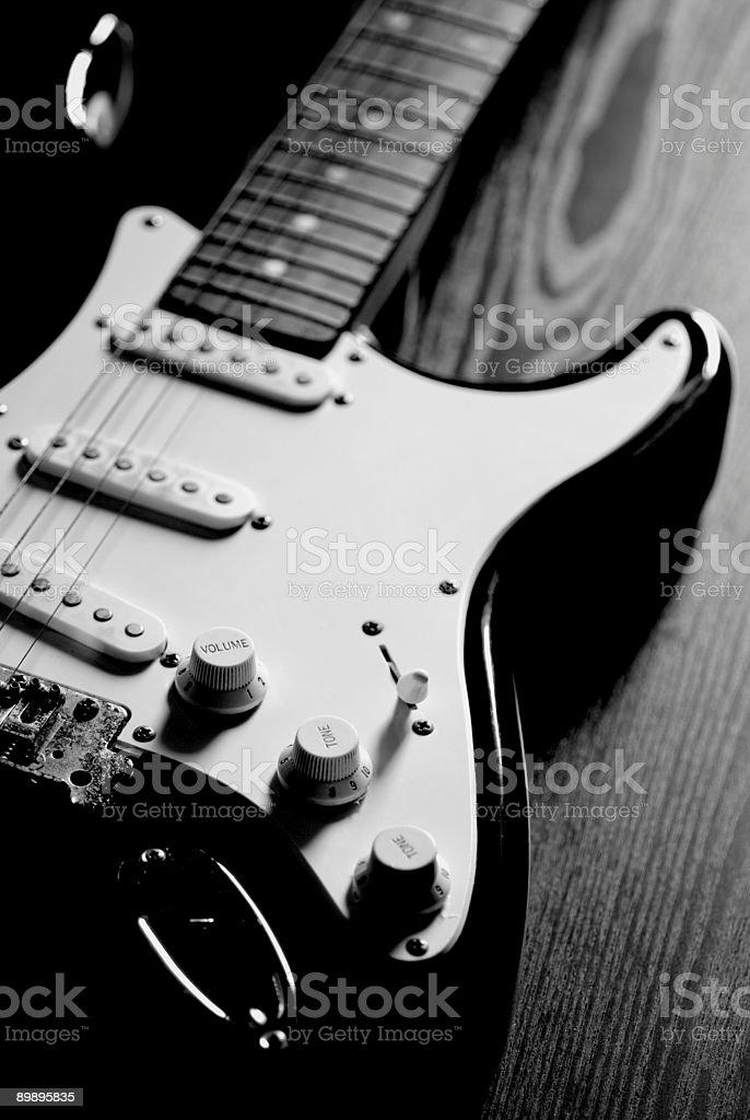 Old guitarra eléctrica foto de stock libre de derechos