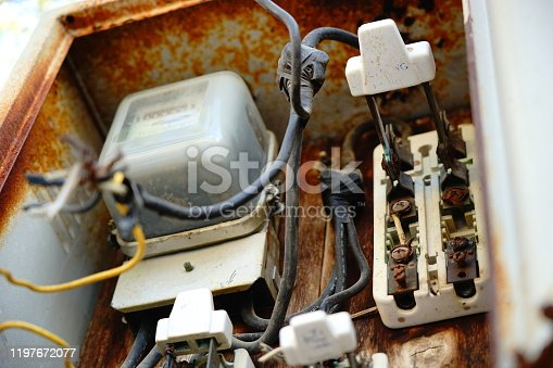 Outdoor electric with dirty electrical control