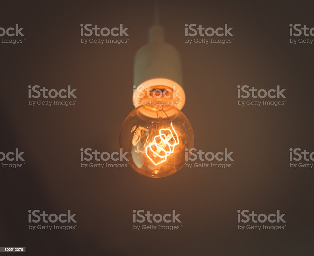 Old Electric Lightbulb In Darkness Stock Photo Design Inspirations