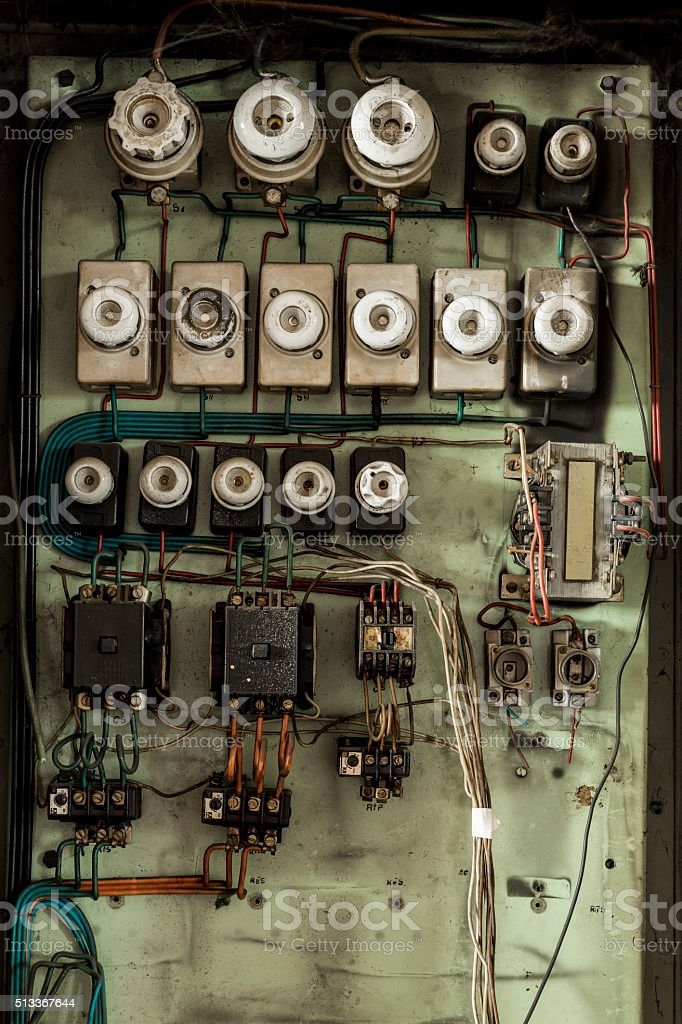 Old Electric Panel Stock Photo - Download Image Now on