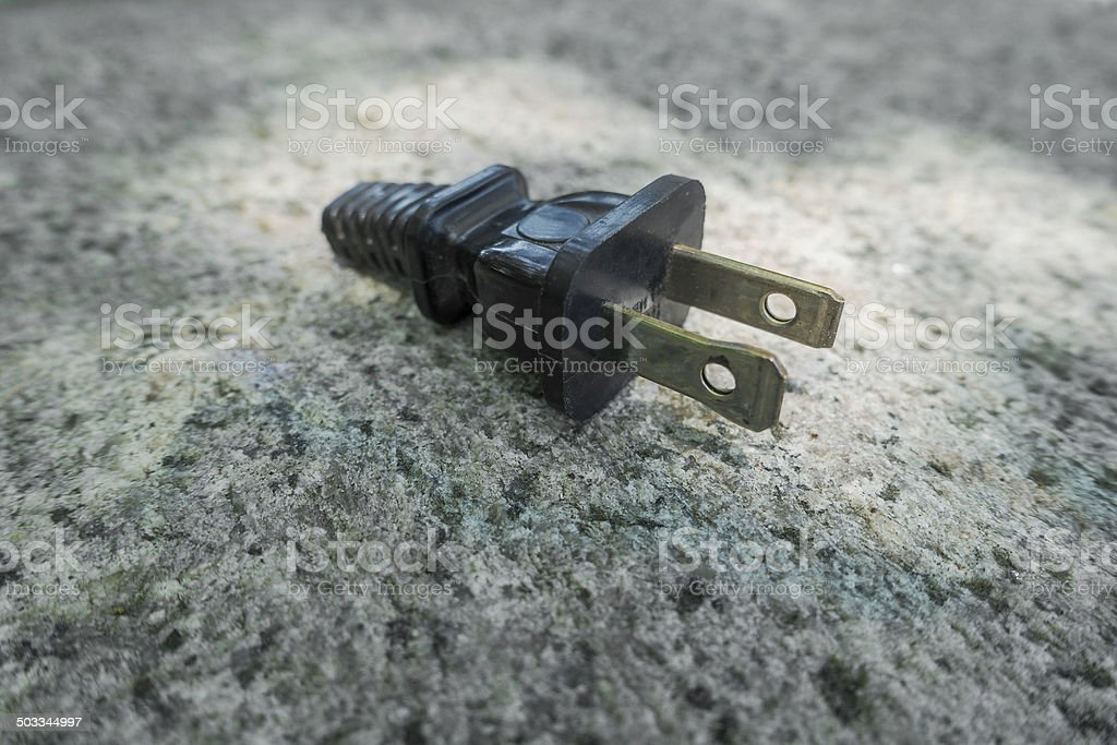 old electric plug without cord royalty-free stock photo