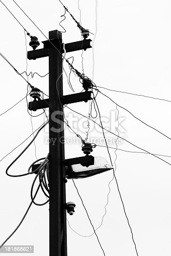 Old electric pole.