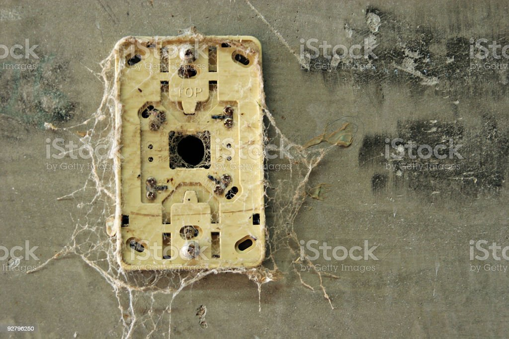 Old electric power outlet royalty-free stock photo