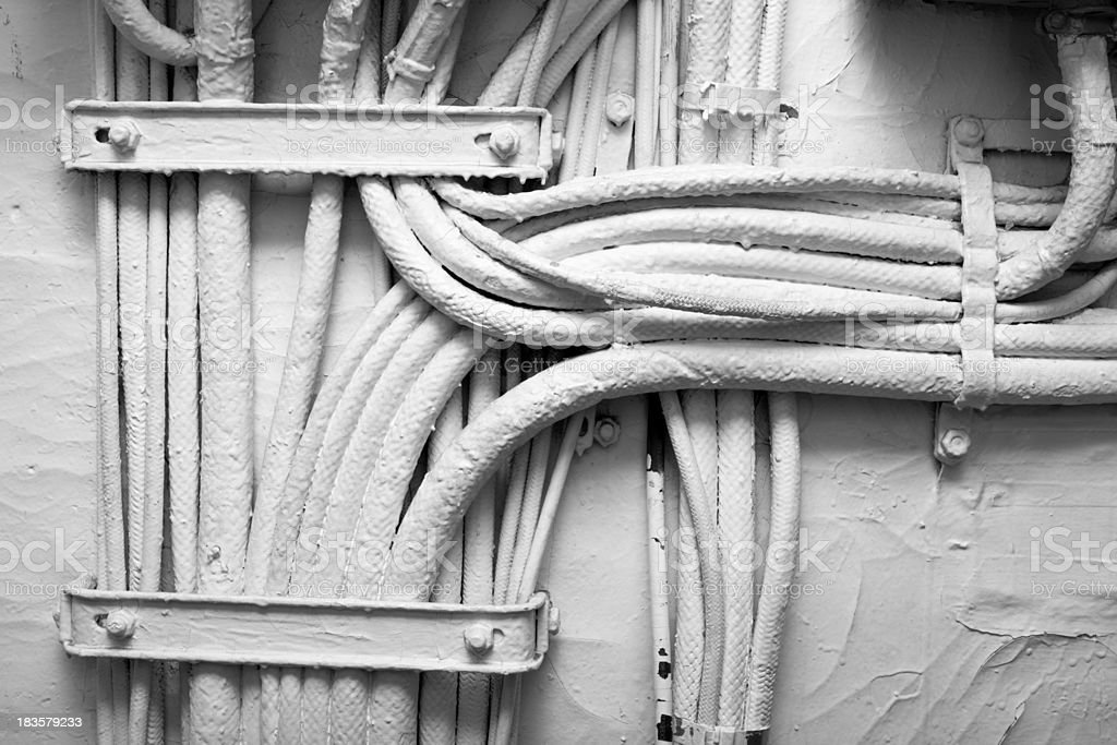 Old Electrical Conduit stock photo