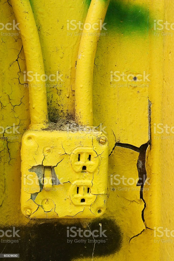 old electrical outlet royalty-free stock photo