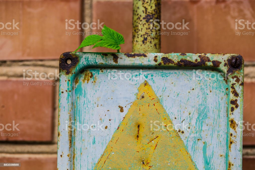 old electrical panel stock photo