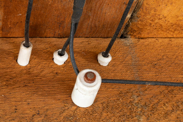 Old Electrical Wiring stock photo
