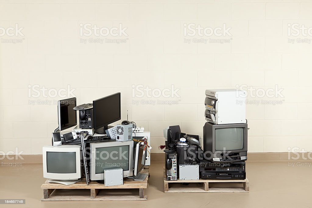 Old Electronics royalty-free stock photo