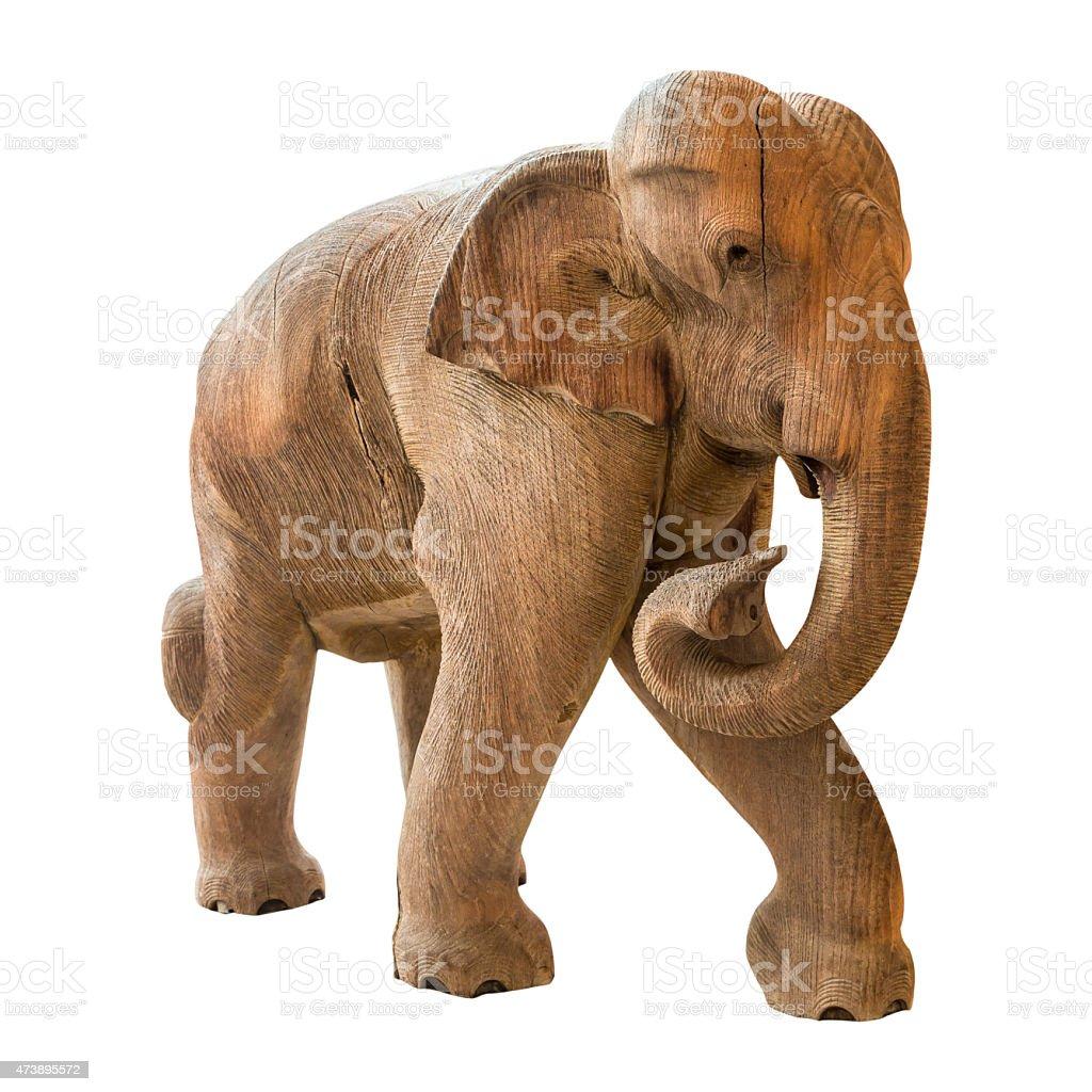 Old elephant model on isolated background stock photo