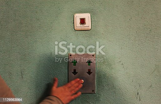 istock Old Elevator Button 1129563564