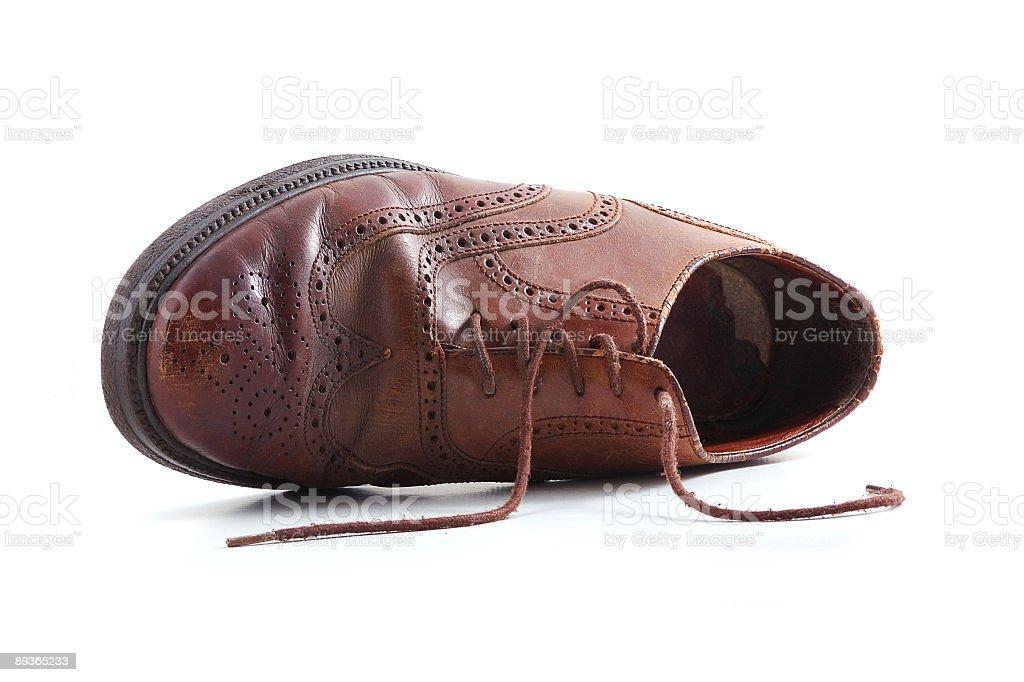 old emigrant chaussure photo libre de droits