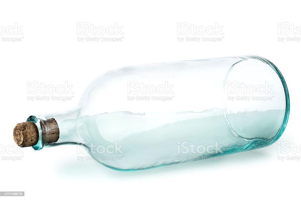 old empty bottle stock photo