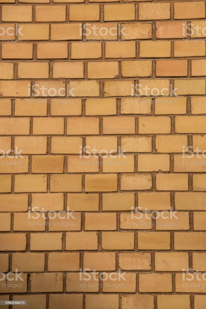Alte leere Ziegel Haus Fabrik Wand mit gelben Ziegeln – Foto