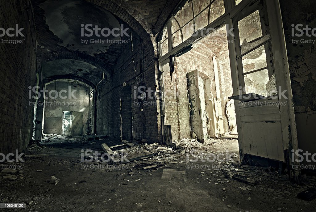 Old empty entry stock photo