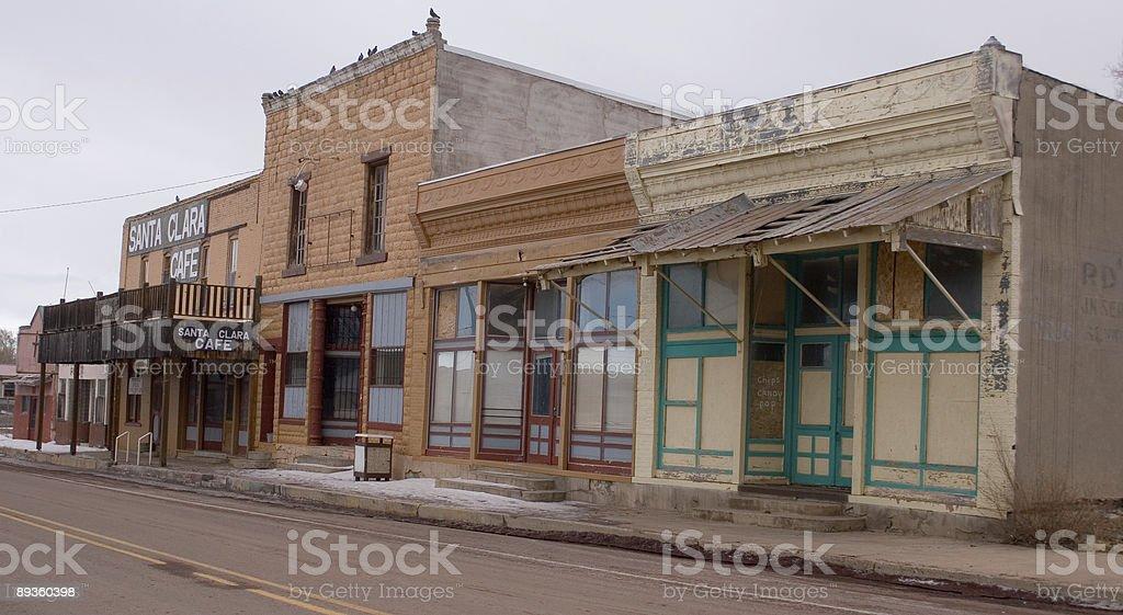 Old empty main street royaltyfri bildbanksbilder