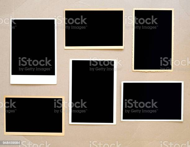 Old empty photo frames vintage photo prints on cardboard with free picture id948459584?b=1&k=6&m=948459584&s=612x612&h=za51dpdmyhpcr4wln2bs qauh  xedyhxcryvjry7as=