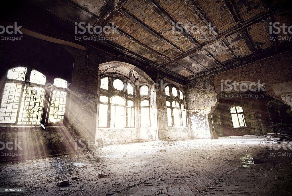 Old empty ruin stock photo