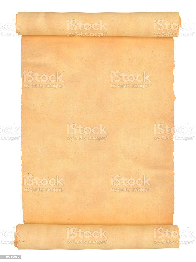 Old Empty Scroll stock photo