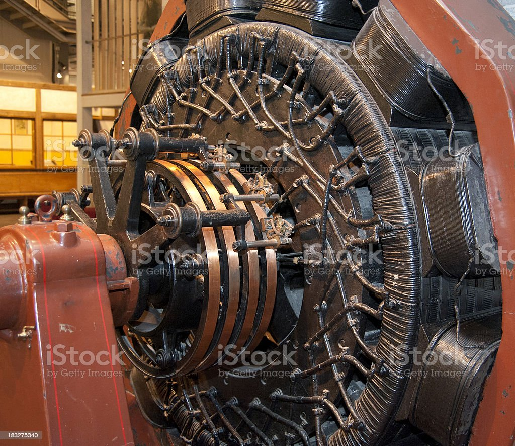 old engine for airplane - Flugezugmotor royalty-free stock photo