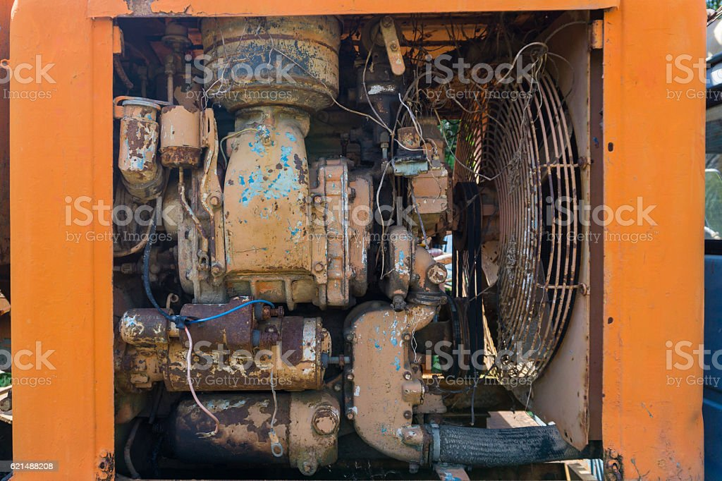 Vecchio motore foto stock royalty-free