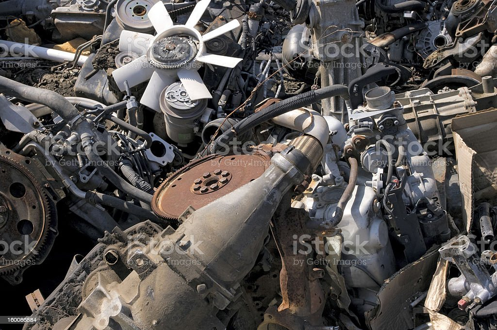 Old engines royalty-free stock photo