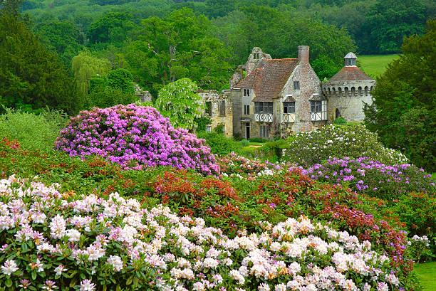 Inglés castillo country scene - foto de stock