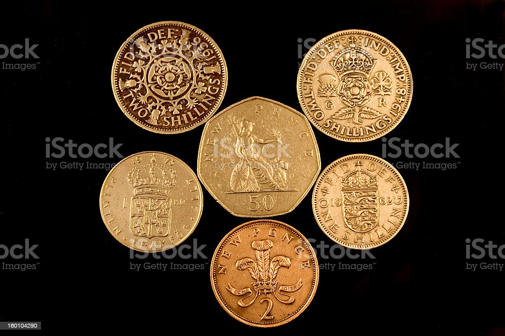 Old English Coins royalty-free stock photo