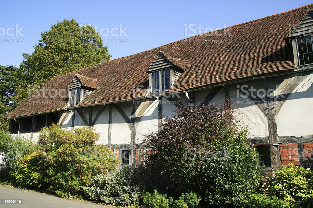 Old English Medieval House royalty-free stock photo