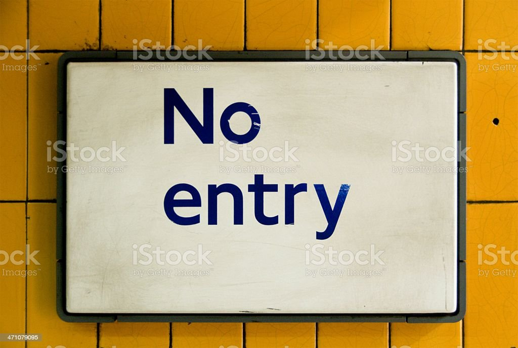 Old English No entry sign royalty-free stock photo